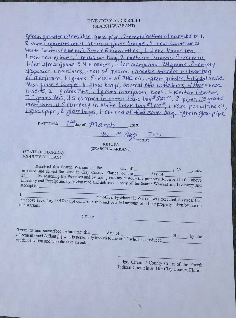 john inman search warrant clay county sheriffs